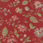 Moda - Jardin de Versailles, French General -5910 - Floral on Red - 13818 16 - Cotton Fabric
